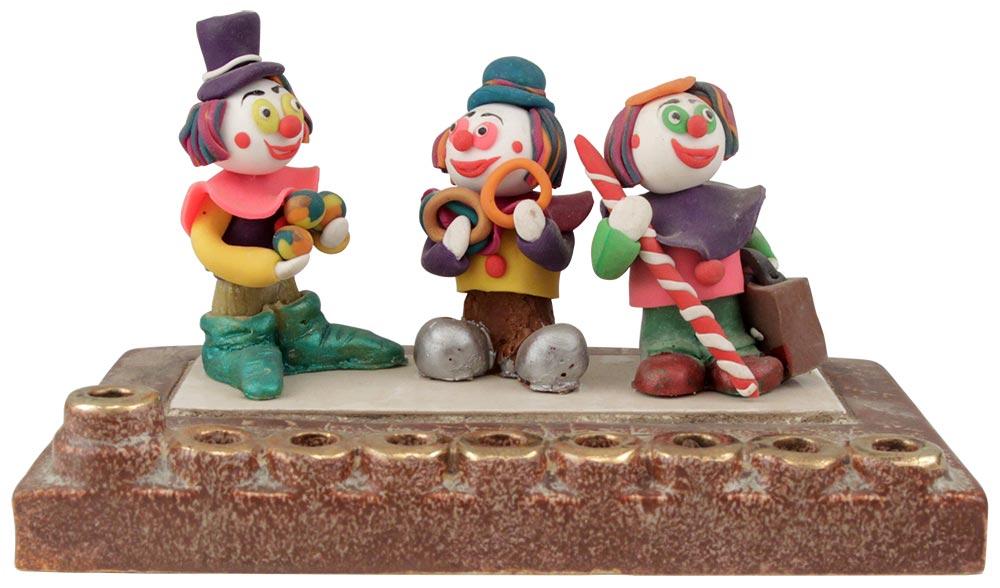 Clown Hanukkah Menorah