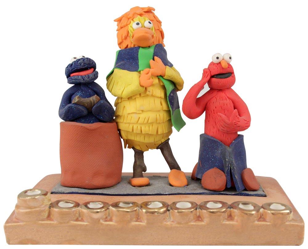 Sesame Street Hanukkah Menorah
