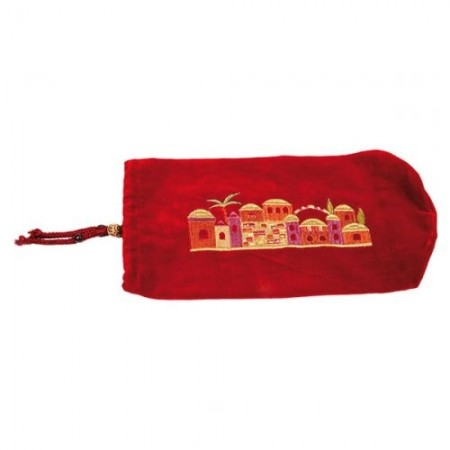 Velvet Shofar Pouch - Red