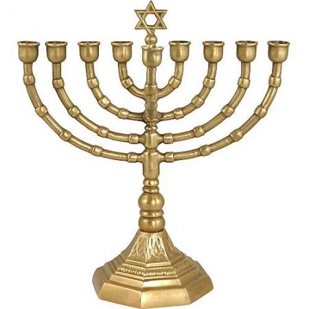 Solid Brass Grandmother Hanukkah Menorah Judaica Mall