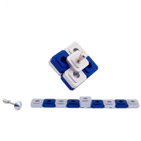 Family Traveling Dreidel and Menorah in One by Agayof