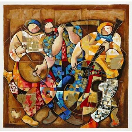 Trio  26.75x26.5 / 68x67 cm  Serigraph on Paper
