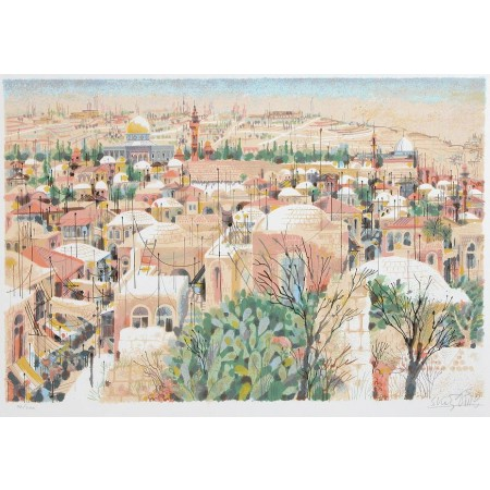 Jerusalem-View from the wall  30x22 / 76x56cm  Serigraph 1985