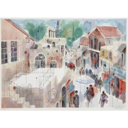 Safed  31.5x24 / 80x61cm  Serigraph 1991