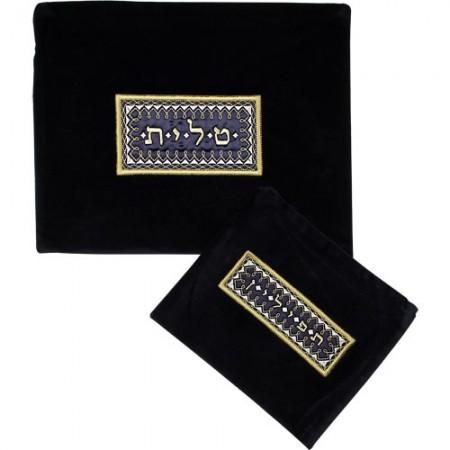 Elegant Labeled Tallis & Tefilin Bag Set