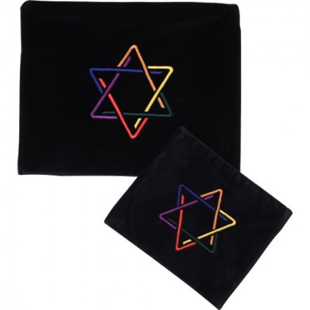 Uniquely Designed Jewish Star Tallis & Tefilin Bag Set