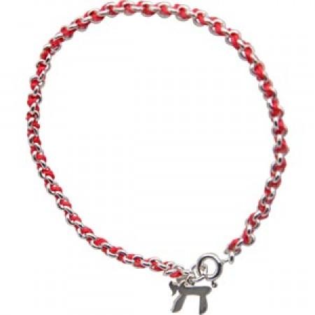 Red String Kabbalah Bracelet With Chai
