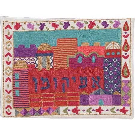 Hand Embroidered Jerusalem Afikoman Bag