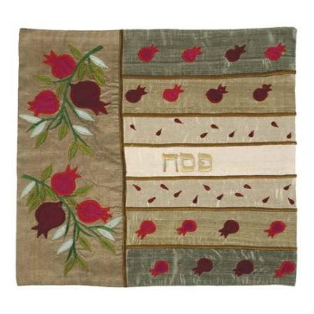 Gold Pomegranates Matzah Cover
