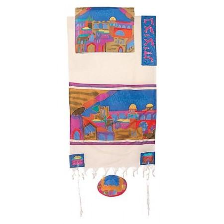 Yair Imanuel Jerusalem Gate In Color Tallit