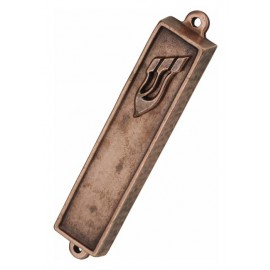 Copper Cast Mezuzah Case