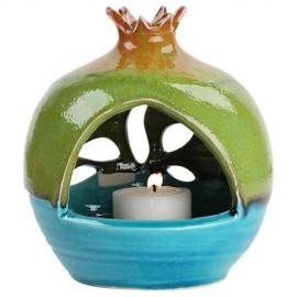 Pomegranate Aromatic Oil Burner with Leaf Motif