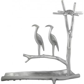 Large Heron Menorah By Shraga Landesman