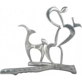 Tzabar & Gazelle Menorah by Shraga Landesman