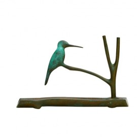 Green Kingfisher Menorah By Shraga Landesman