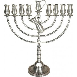 Very Large Pewter Menorah