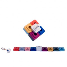 Multicolor Traveling Dreidel and Menorah in One by Agayof