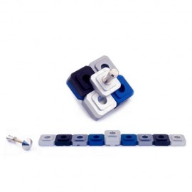 Collage Traveling Dreidel and Menorah in One by Agayof