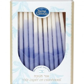 Handmade Blue & White Hanukkah Candles
