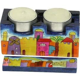 Jerusalem Traveling Shabbat Candlesticks