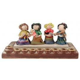Girls at Play Hanukkah Menorah