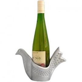 Cast Aluminum Peace Dove Bottle Holder by Shraga Landesman