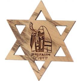 Jewish Star Jerusalem Shofar Blower Magnet