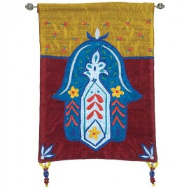 Hamsa Flowers Multicolor Wall Hanging