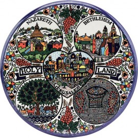 Holy Land Armenian Ceramic Hanging Plate