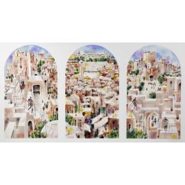 Jerusalem Triptych  24x41 / 61x104 cm  Serigraph  2006