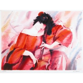 Cellist II  18x25 / 46x64cm  Serigraph  2001
