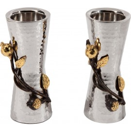 Hammered Metal Candlesticks by Yair Emanuel - Small