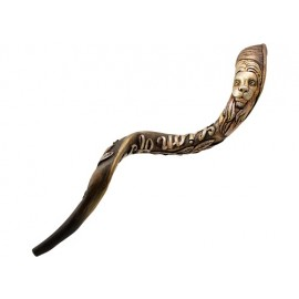 "Engraved Kudo Shofar by Andrey Sofin ""Lion of Judah"" - size: 40- 44 inches"