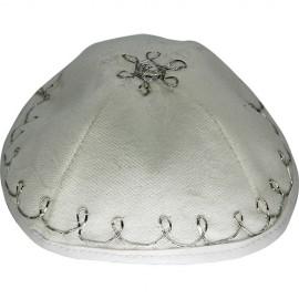 Felt White-and-Silver Baby Kippah – Yarmulke
