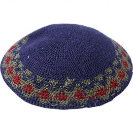 Dark-Blue Knitted Kippah