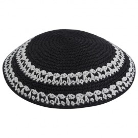 Black & White Knitted Kippah