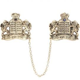 Gold Plated Lions of Judah Torah Tallit Clips