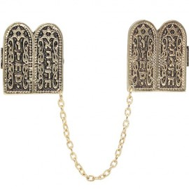 Elegant Tablets of the Law Tallit Clips