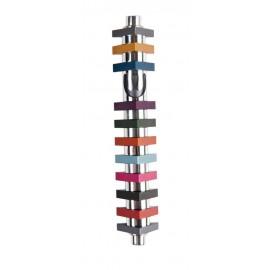 Stripes Triangle Mezuzah – Multi-Colored Medium by Agayof