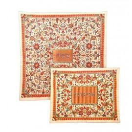 Flower Design Matza and Afikoman Covers by Yair Emanuel