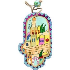 Miniature Jerusalem Hamsa