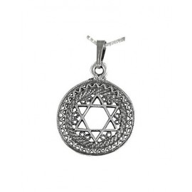 Silver Filigree Magen David Pendant