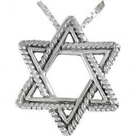 Large Silver Magen David Pendant