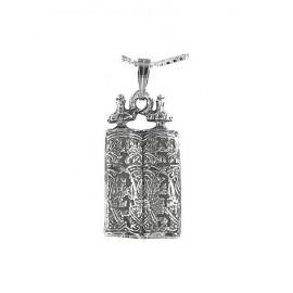 Silver Sefer Torah Mezuzah Pendant