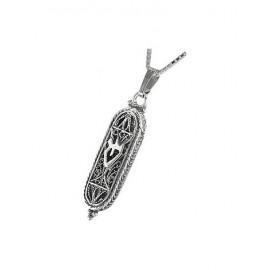Silver Filigree 'Shin' Pendant