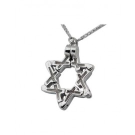 Unique Convertible Magen David Pendant