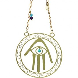 Hamsa-and-Fish Kabbalah Wall Hanging by Shraga Landesman