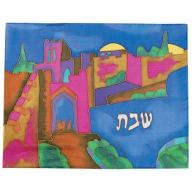 Jaffa Gate Silk Challah Cover