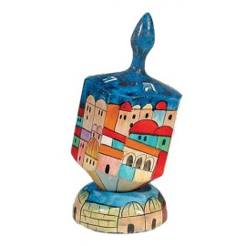 Jerusalem Design Large Dreidel
