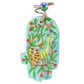 Miniature Peacock Hamsa